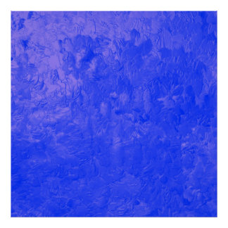 one color painting blue poster