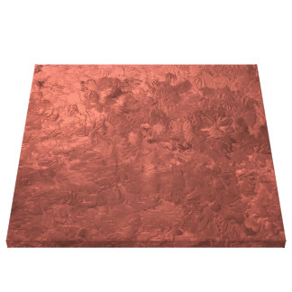one color painting bronze stretched canvas print
