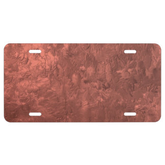 one color painting bronze license plate