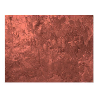 one color painting bronze post card