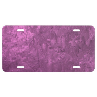 one color painting pink license plate