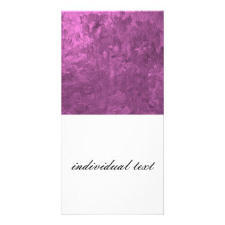 one color painting pink personalized photo card