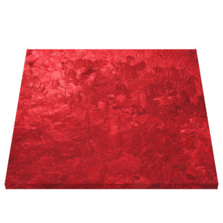 one color painting red canvas prints