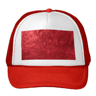 one color painting red mesh hat