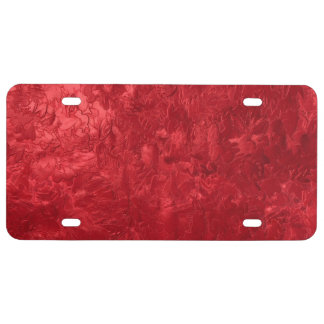 one color painting red license plate