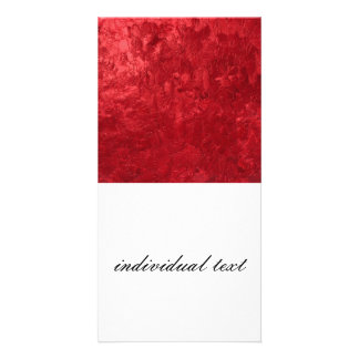 one color painting,red personalized photo card