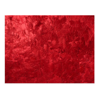 one color painting red postcard