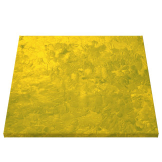 one color painting yellow stretched canvas prints