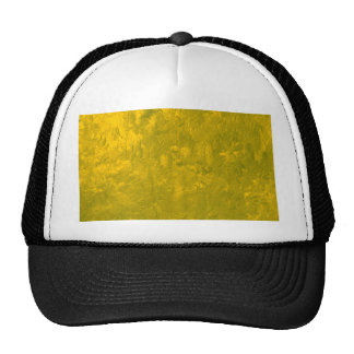 one color painting yellow trucker hat