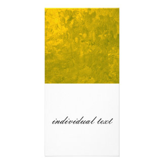 one color painting,yellow photo greeting card