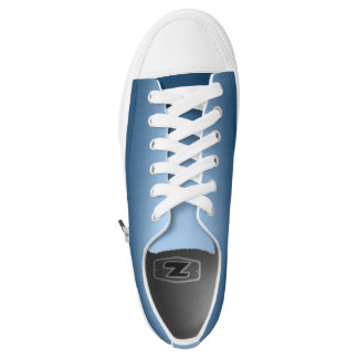 One Color Plain Gradient Blue Low Tops