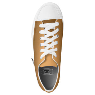 One Color Plain Gradient Golden Low Tops