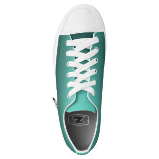 One Color Plain Gradient Teal Low Tops