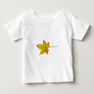 One colorful maple leaf in autumn on white baby T-Shirt