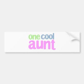 One Cool Aunt T-shirt Bumper Sticker