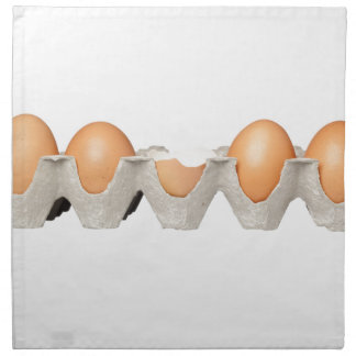 One cracked egg napkin