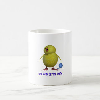 one cute easter chick basic white mug