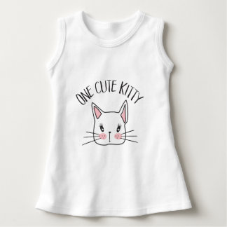 One Cute Kitty Baby Dress