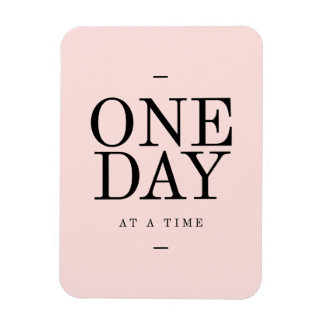 One Day Achieving Goals Quote Blush Pink Gift Flexible Magnets