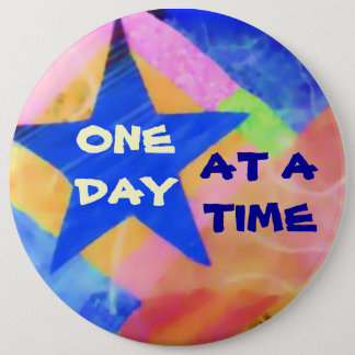 """One Day at a Time """"Blue Star"""" button"""