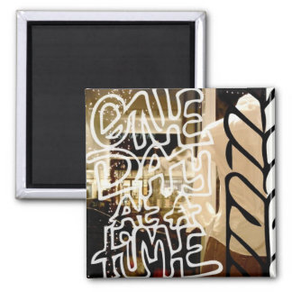One day at a time magnet square