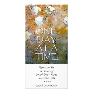 One Day at a Time Memorial Invitation Photo Card Template