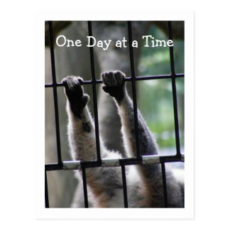 """One Day at a Time"", Motivational Quote Postcard"