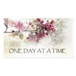 One Day at a Time Pink Blossoms Business Card
