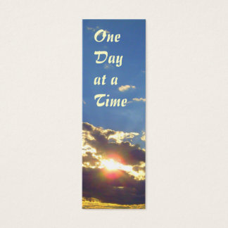 One Day at a Time Radiance bookmark Mini Business Card