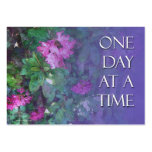 One Day at a Time Recovery Profile Card Business Card Templates