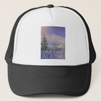 One Day at a Time Trees Hills Snow Trucker Hat