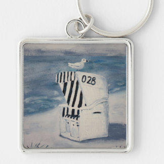 One day at the sea key ring