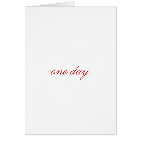 one day card