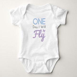 One Day I Will Fly Baby Bodysuit
