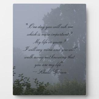 One Day ~ Khalil Gibran Plaque