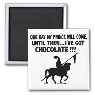 One day my prince will come square magnet
