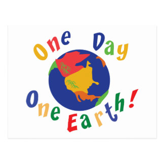 One Day One Earth Postcard