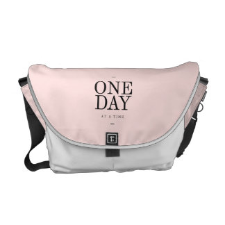 One Day Perseverance Quote Blush Pink Gift Courier Bags