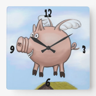 One Day... Square Wall Clock