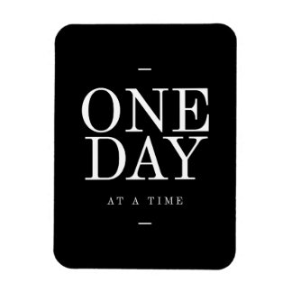 One Day Study Motivational Quote Black and White Vinyl Magnet