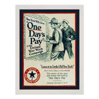 One Day's Pay ~ Vintage World War 1 Posters