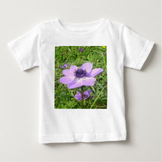 One Delicate Pale Lilac Anemone  Wild Flower Baby T-Shirt
