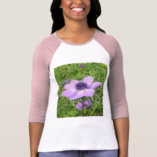 One Delicate Pale Lilac Anemone  Wild Flower T-Shirt