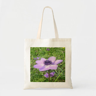 One Delicate Pale Lilac Anemone  Wild Flower Tote Bag