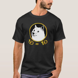 One Doge = One Doge Dogecoin Men's Tee Shirt