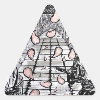 One Draw By Carter L. Shepard Triangle Sticker