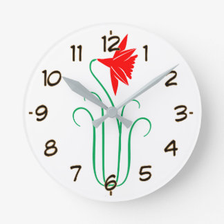 One ELEGANT Flower Show Round Clock