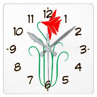One ELEGANT Flower Show Square Wall Clock
