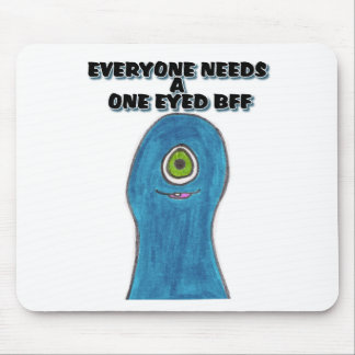 ONE EYED BFF MOUSE PAD