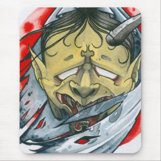 One-Eyed Hannya Mouse Pad